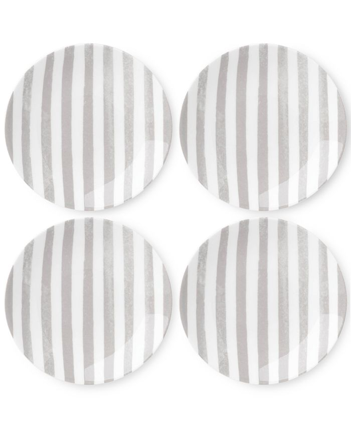 kate spade new york - Charlotte Street Grey Set of 4 Tidbits