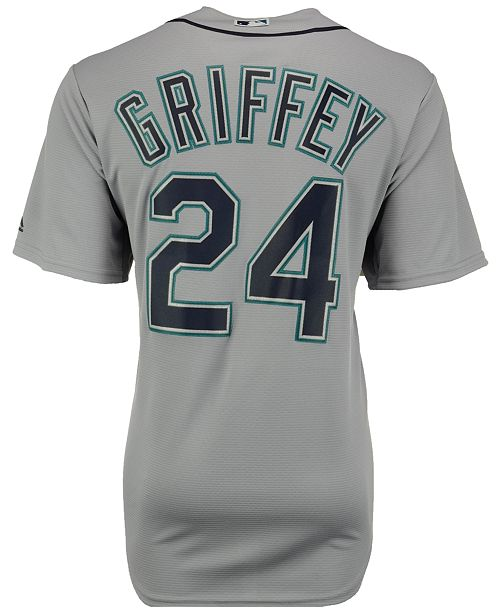 95025e0ca Majestic Men s Ken Griffey Jr. Seattle Mariners Cooperstown Player Replica  CB Jersey ...