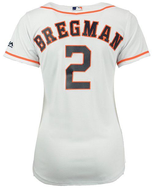 the best attitude c8377 26bdf Majestic Women's Alex Bregman Houston Astros Cool Base ...