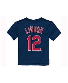 Majestic Toddlers' Francisco Lindor Cleveland Indians Official Player T-Shirt