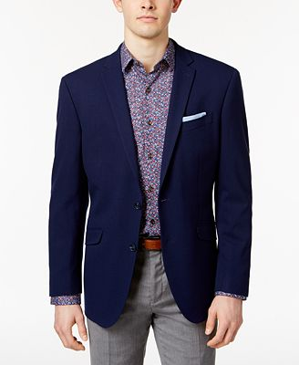 Kenneth Cole Reaction Men's Slim-Fit Techni-Cole Flex New Blue ...
