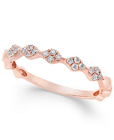 Diamond Stackable Band (1/8 ct. t.w.) in 14k Gold, White Gold or Rose Gold