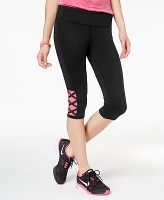 Material Girl Active Juniors' Cropped Yoga Leggings, Only at Macy's
