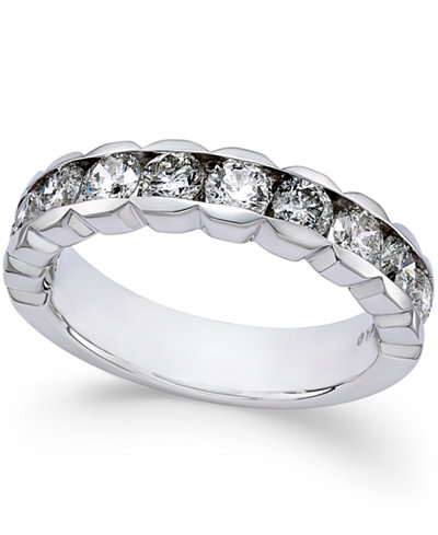 Diamond Channel-Set Band (1-1/2 ct. t.w.) in 14k White Gold