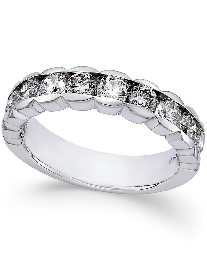 Macy's Diamond Channel-Set Band (1-1/2 ct. t.w.) in 14k White Gold
