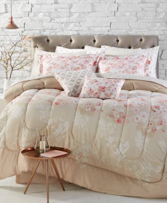repose coral reversible 12piece comforter sets