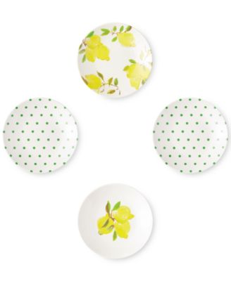 Lemon 4-Pc. Melamine Tidbit Plate Set