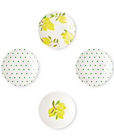 kate spade new york Lemon 4-Pc. Melamine Tidbit Plate Set