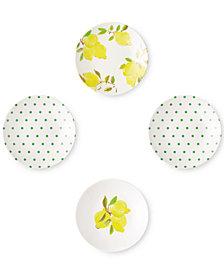 kate spade new york Lemon 4-Pc. Melamine Tidbit Plate Set