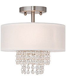 "Carlisle 11"" Crystal Semi-Flush Mount"