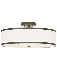 Livex Park Ridge Metal 18'' Semi Flush Ceiling Light