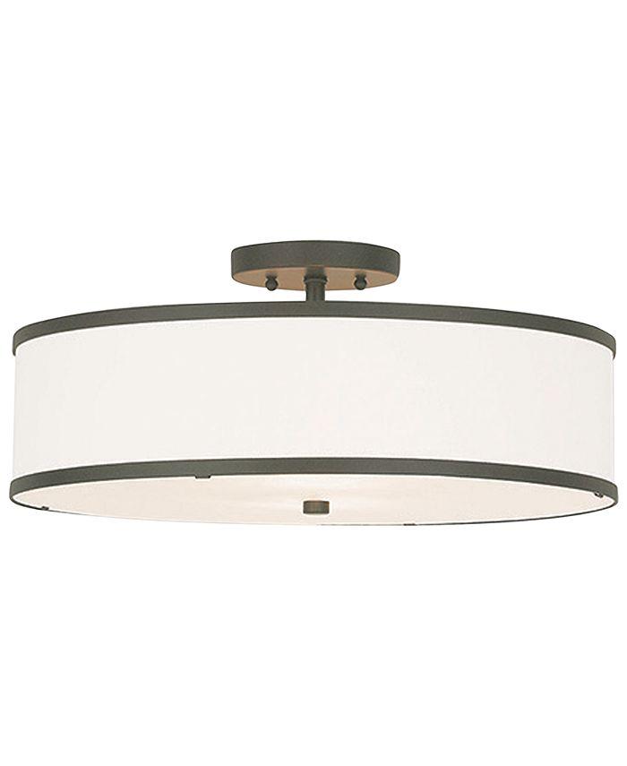 Livex - Park Ridge Metal 18'' Semi Flush Ceiling Light