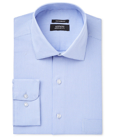 Alfani Men's Big & Tall Regular Fit Performance Dress Shirt, Created for Macy's