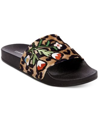Image of Steve Madden Patches Pool Slides
