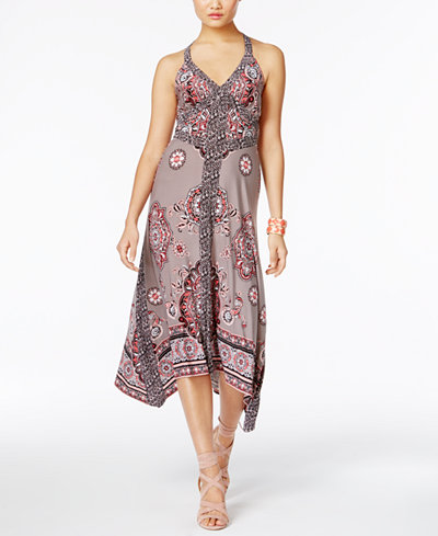 INC International Concepts Printed Handkerchief-Hem Dress, Created ...