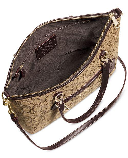 COACH Prairie Satchel in Signature Canvas   Reviews - Handbags ... 6dc6c3bb19e06