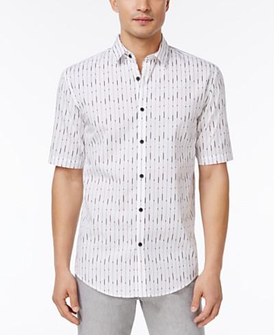 Alfani Men's Jameson Vertical-Striped Cotton Shirt, Created for Macy's