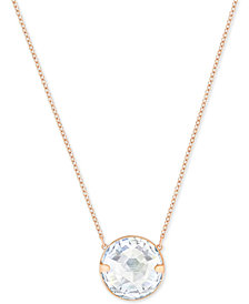 Swarovski Globe Rose Gold-Tone Crystal Pendant Necklace