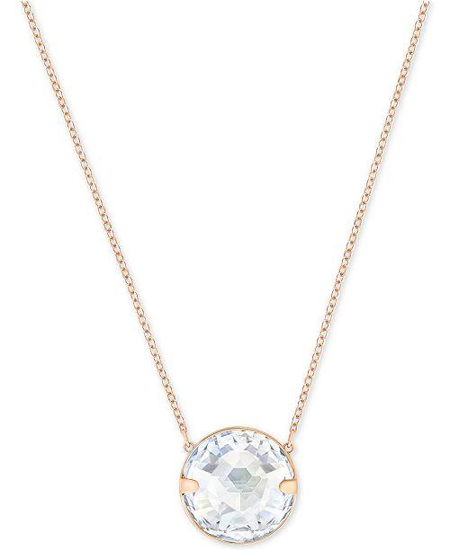 89b7938db Swarovski Globe Rose Gold-Tone Crystal Pendant Necklace ...
