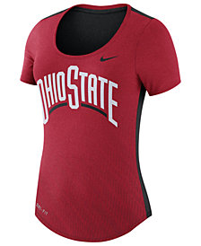 Nike Women's Ohio State Buckeyes Dri-FIT Scoop T-Shirt