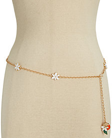 kate spade new york Gold-Tone Floral Chain Belt