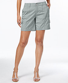 Style & Co Petite Zig-Zag Cargo Shorts, Created for Macy's