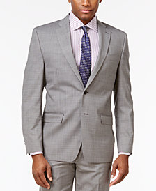 CLOSEOUT! Lauren Ralph Lauren Men's Classic-Fit Ultra-Flex Gray Sharkskin Suit Jacket