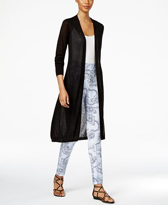 Thalia Sodi Open-Front Duster & Printed Leggings, Only at Macy's