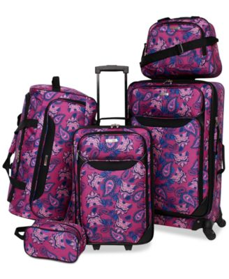 Image of Tag Springfield III Printed 5-Pc. Luggage Set, Only at Macy's