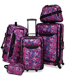 Springfield III Printed 5-Pc. Luggage Set, Created for Macy's