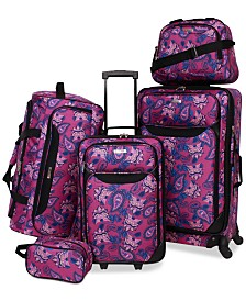 Tag Springfield III 5 Piece Luggage Set (Purple Floral)