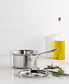 All-Clad D5 Brushed Stainless Steel 1.5 Qt. Covered Saucepan