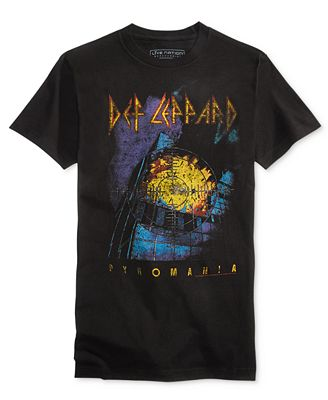 New World Men's Def Leppard Graphic-Print Cotton T-Shirt - T ...