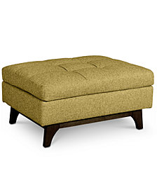 Nari Fabric Tufted Ottoman - Custom Colors, Created for Macy's
