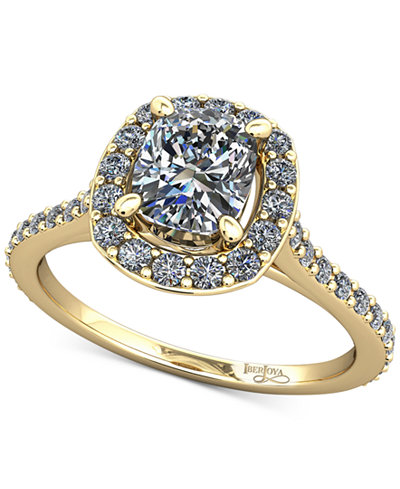 Diamond Halo Mount Setting (1/3 ct. t.w.) in 14k Gold