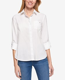 Tommy Hilfiger Cotton Roll-Tab Shirt