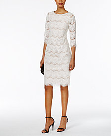 Jessica Howard Petite Lace Illusion Sheath Dress