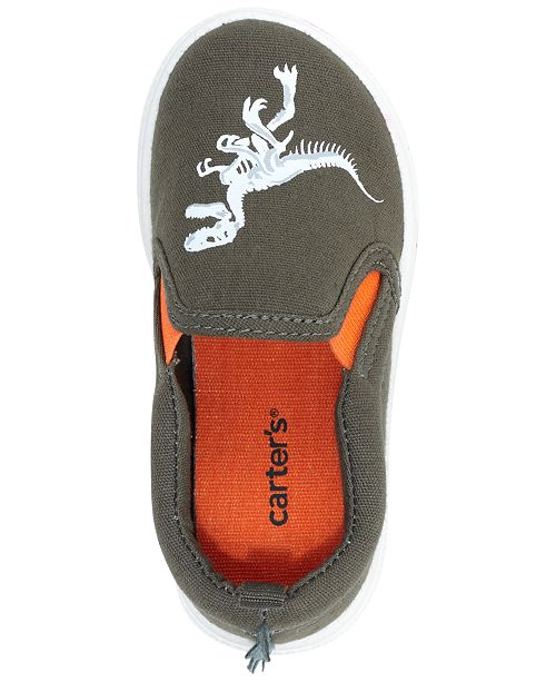 dbc98c5a33b Carter's Damon Dinosaur Slip-On Sneakers, Toddler Boys & Little Boys ...