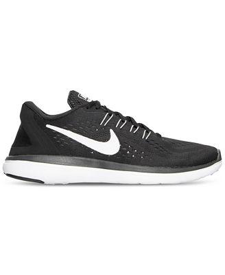 Nike Flex 2017 Run Trainers Junior Boys Grey/Red