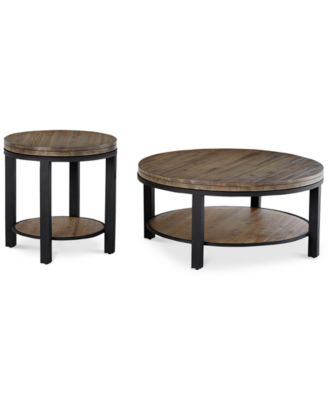 Canyon Round Table Set, 2-Pc. Set (Coffee Table & End Table), Created for Macy's