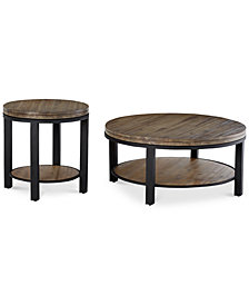 Canyon Round Table Set 2 Pc Coffee End