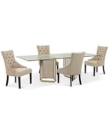 Sophia Dining Room 5-Pc. Set (96'' Table & 4 Marais Chairs)