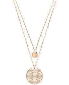 Swarovski Ginger Layered Polished and Pavé Pendant Necklace