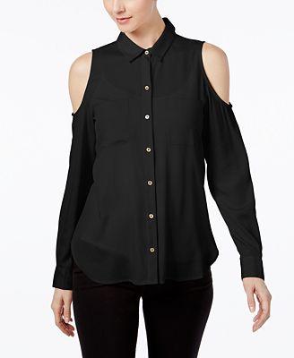 Calvin Klein Cold-Shoulder Shirt