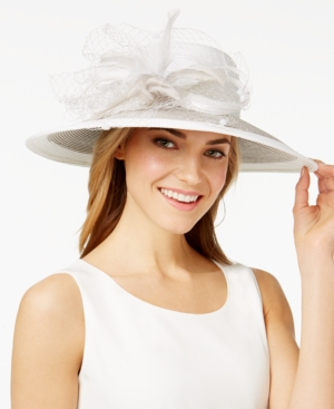Retro Vintage Style Hats August Hats Freesia Wide Brim Hat $78.00 AT vintagedancer.com