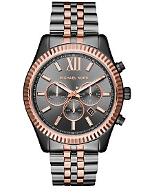 Michael Kors Men's Chronograph Lexington Two-Tone Stainless Steel Bracelet Watch 44mm MK8561