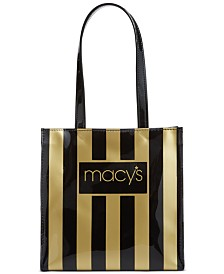 Macy's Striped Lunch Tote