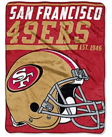 "Northwest Company San Francisco 49ers Micro Raschel 46x60 ""40 Yard Dash"" Blanket"