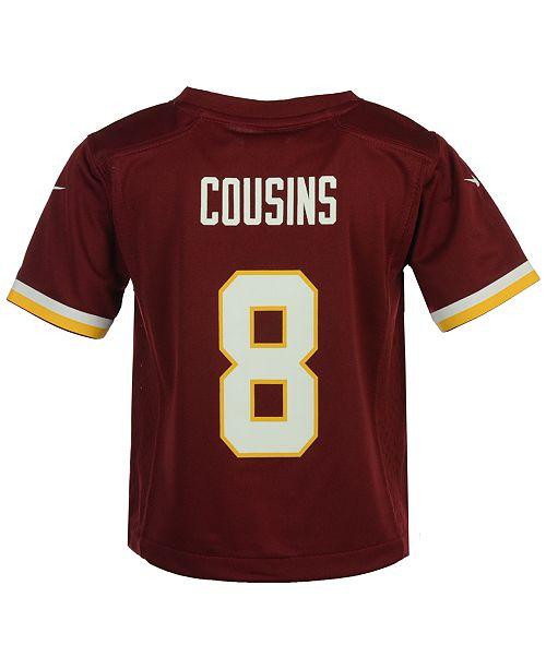 separation shoes d4564 b2bc7 Nike Kirk Cousins Washington Redskins Game Jersey, Toddler ...