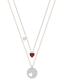 Swarovski Two-Tone 2-Pc. Set Interlocking Crystal Pendant Necklaces